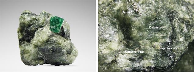 Swat emerald crystal in matrix