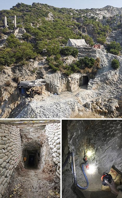The Mingora emerald mine in Swat Valley