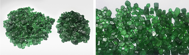 The 37 Swat emerald specimens for this study