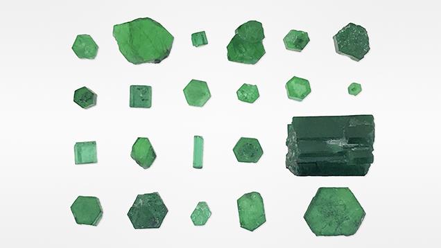Swat emerald crystals