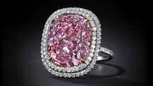 The 16 carat Fancy Vivid Pink diamond sold for $28.5 million to the same buyer who bought the record-breaking blue diamond. Photo courtesy Christie's