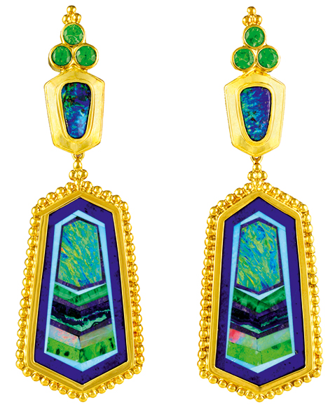 Tsaritsa earrings by Paula Crevoshay.