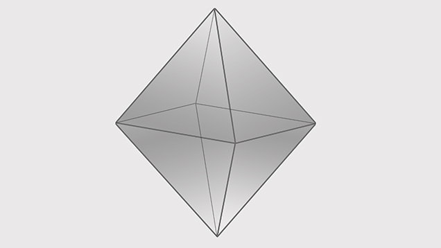 Diamond crystal octahedron illustration