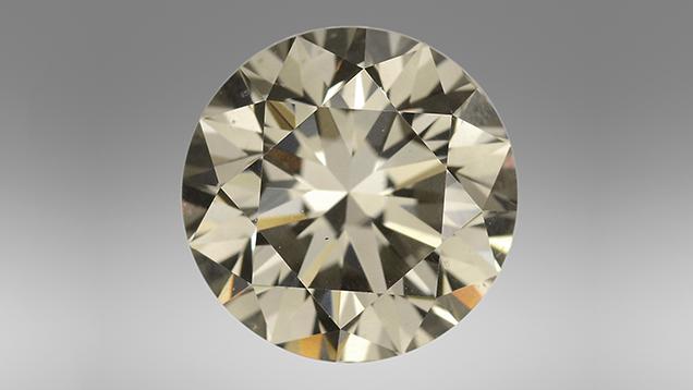 1.50 ct Fancy Dark gray CVD synthetic diamond