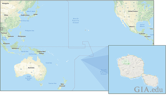 French Polynesia and the island of Tahiti