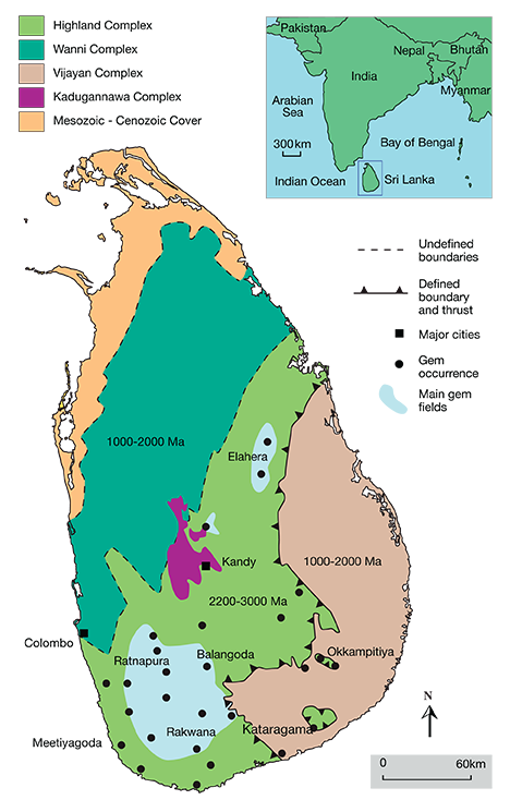 Geological Map of Sri Lanka