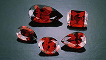 Garnets that are mixtures of Pyrope and Almandine