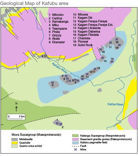Geological Map of Kafubu area