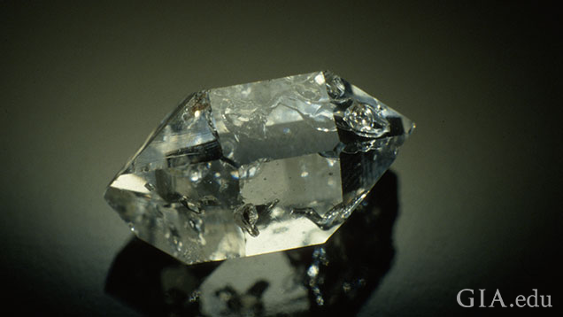 Herkimer diamond, rock crystal quartz with negative crystals.