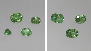 Mint-green chrysoberyl.