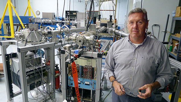 The author and the University of Arizona's accelerator mass spectrometer