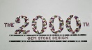 """The gems spell out """"The 2000th Gem Stone Design."""""""