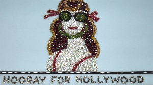 "Starlet in sunglasses above title ""Hooray for Hollywood"