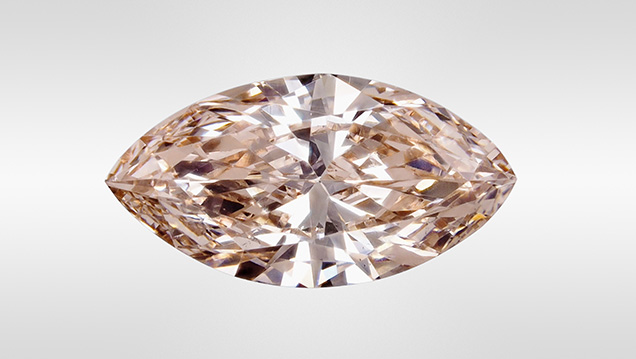 LPHT-treated brownish pink CVD synthetic diamond