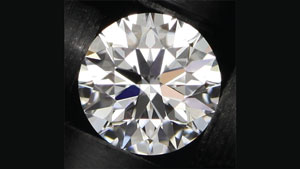Image taken in Carlsbad using the new L-Box for one of GIA's research diamonds. The L-Box environment creates a good replication of how a diamond is viewed in real life.