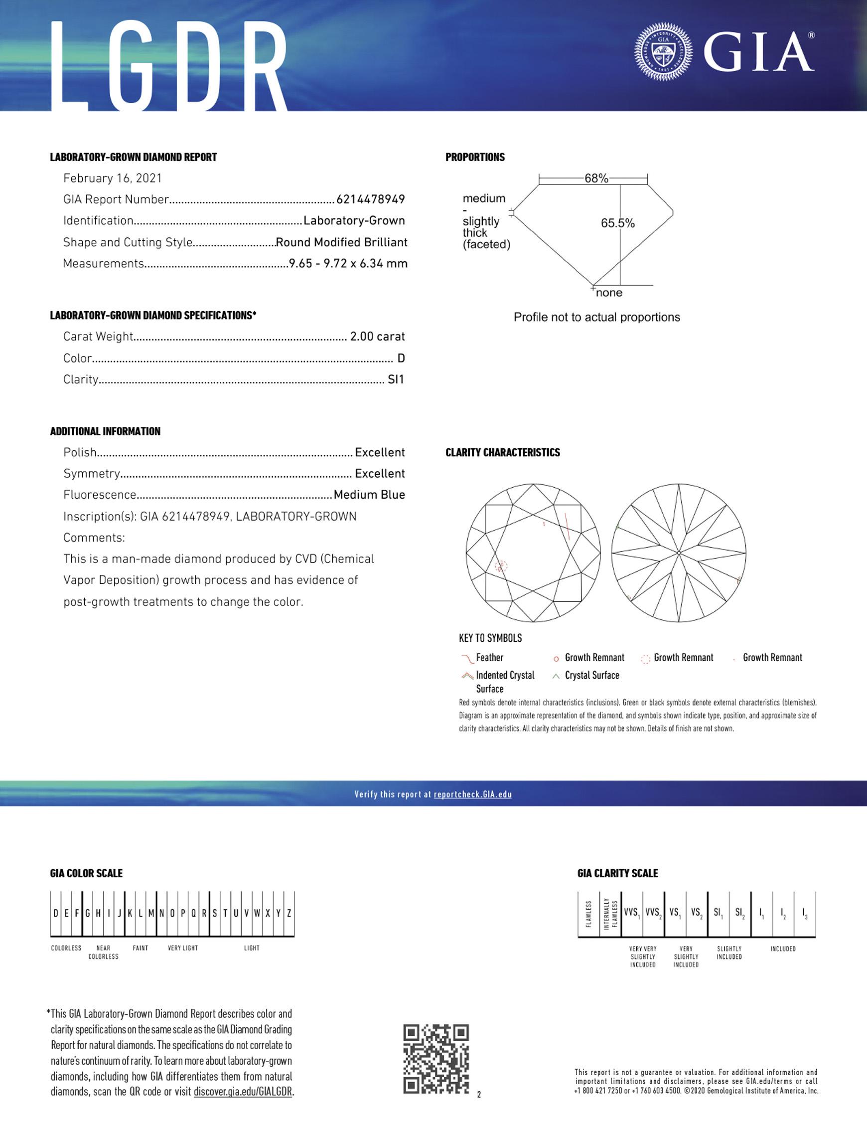 Sample Laboratory-Grown Diamond Report