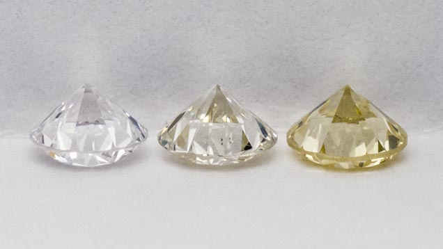 Diamond Examples on the GIA Colour Scale