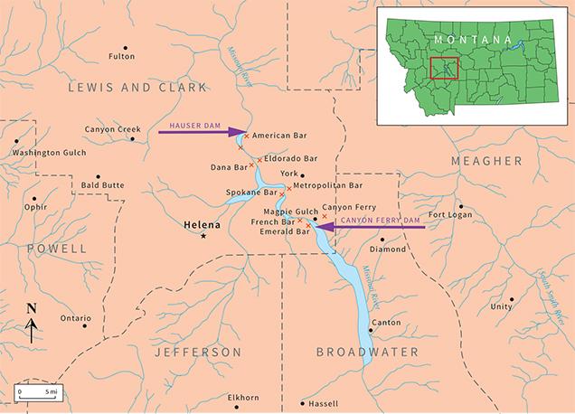 Missouri Map of Gravel Bars
