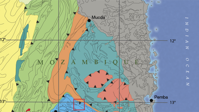 Mozambique Regional geological map
