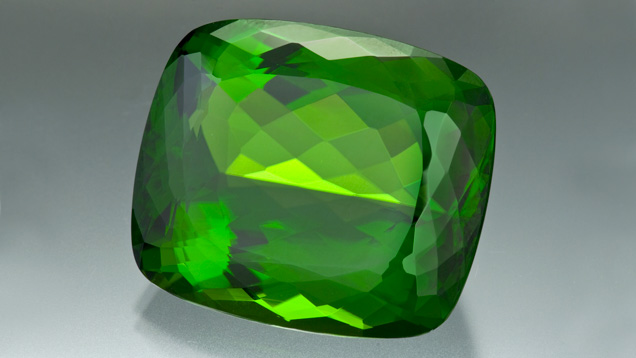 Polished peridot gemstone