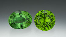 10.09-ct Oval Peridot and 8.13-ct Round Peridot