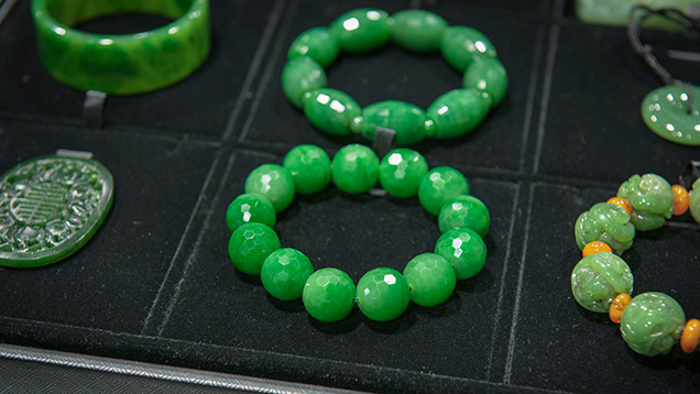 The nephrite jade road evolution of the green nephrite market bracelets with faceted nephrite beads aloadofball Image collections