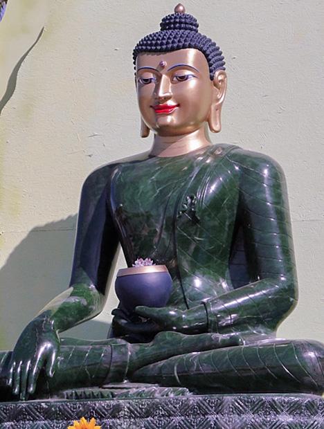Magnificent eight-foot tall jade buddha