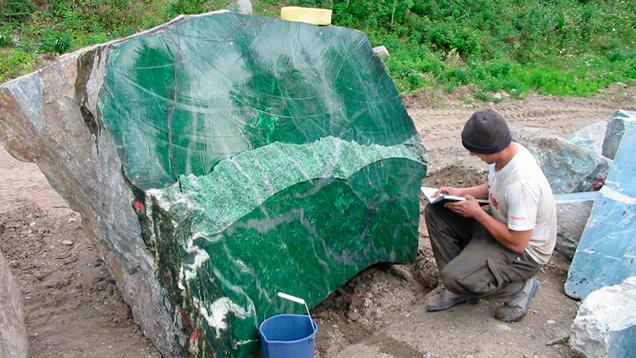 Polar Pride 18-ton nephrite boulder