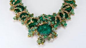 拉斯维加斯国际珠宝展展出的 Pond Scum 项链