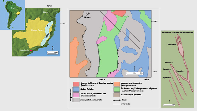 Regional and Local Geology of the Cruzeiro Mine
