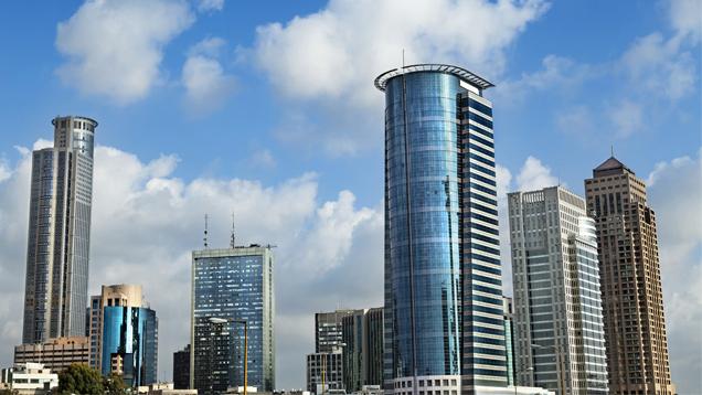 Skyline of downton Ramat Gan
