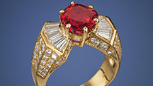 Fire Engine Red Ruby Ring