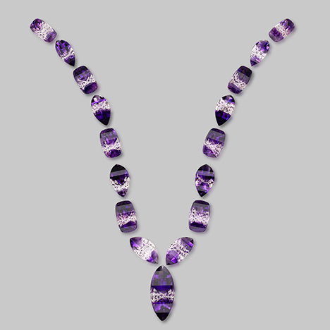 "Suite of amethyst from Boudi: ""Purple Champagne"""