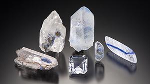 Quartz with dumortierite inclusions