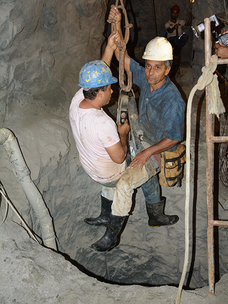 Miners at Montebello mine