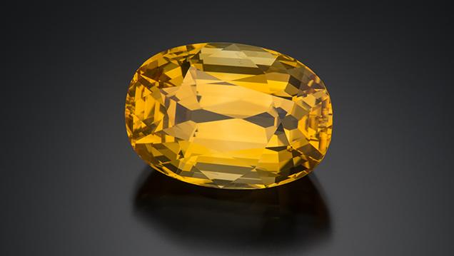 Golden sapphire from Sri Lanka
