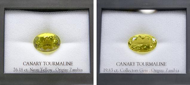 """Canary"" tourmalines"