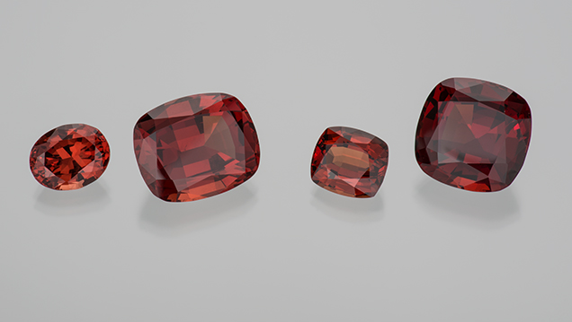 "Four ""ginger"" garnets"