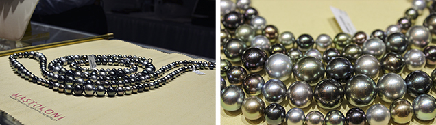 """""""Wave"""" Tahitian cultured pearl necklace"""