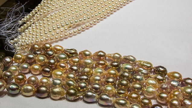 High-quality baroque cultured pearls
