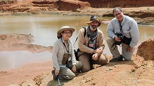 GIA team at Montepuez ruby deposit
