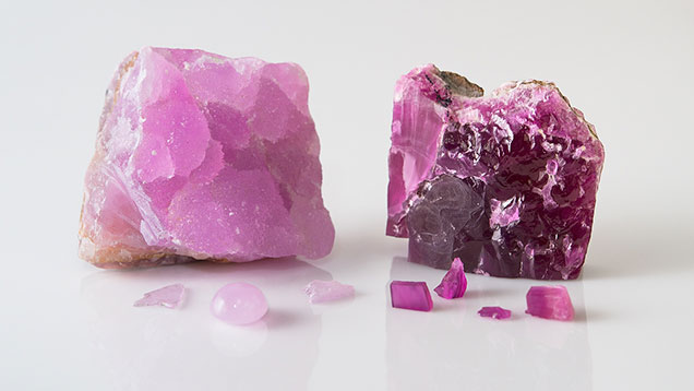 Pink and Reddish Purple Cobaltocalcite Specimens