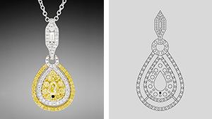 Melee-set pendant