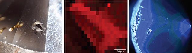 Diamond within diamond photomicrographs