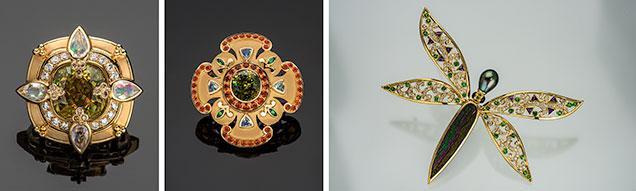 Jewelry using unusual gemstones