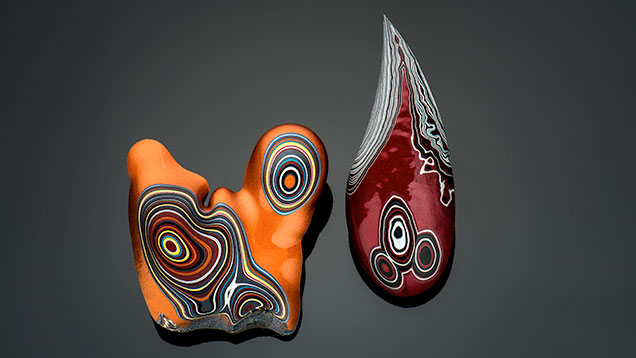 Different patterns in fordite slag