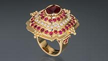 Ring with Oregon sunstone