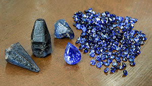 Rough unheated sapphire from Madagascar's new deposit