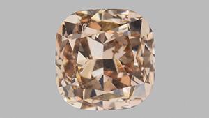Fancy pink brown diamond