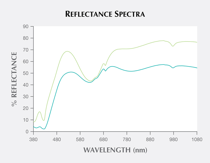 Reflectance spectra of variscite from central Tajikistan